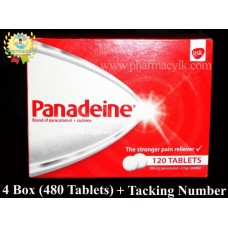 4 Box - GSK Panadeine Tablets Acetaminophen 500 mg + Codeine 8 mg