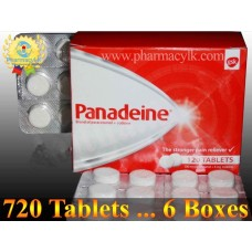 6 Box - GSK Panadeine Tablets Acetaminophen 500 mg + Codeine 8 mg