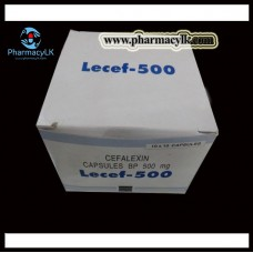 Lecef 500mg Cefalexin Antibiotic 100 Tablets