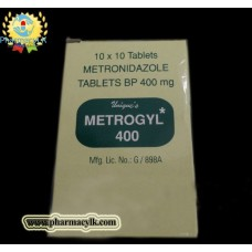 Metrogyl Metronidazole 400mg 100 Tablets For bacterial Protozoal ,abdominal infections