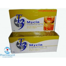 T3 Mycin Clindamycin Gel 1% For Topical Treatment of acne vulgaris 25g
