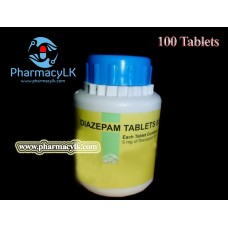 TRUE MSJ 5mg Diazepam 100 Tablets For Anxiety, insomnia,muscle spasms / Sleeping tablets