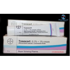Travocort 15g x 2 (30g) cream intermediate fungal treatment /ECZEMATOUS SKIN