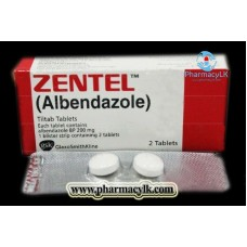Zentel Albendazole 200mg 2 Tablets