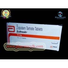 Zolpidem (zolfresh) Tartrate Tablets 10mg 100ct used to treat insomnia